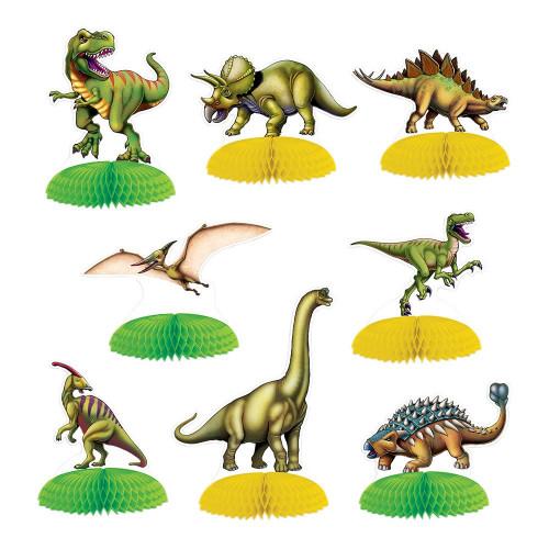Dinosaurier Mini Bordsdekorationer - 8-pack