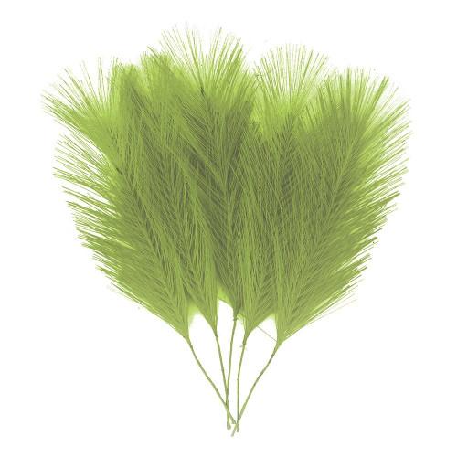 Fjädrar i Tyg Grön - 5-pack