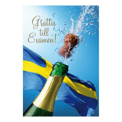 Kort Grattis till Examen Champagne