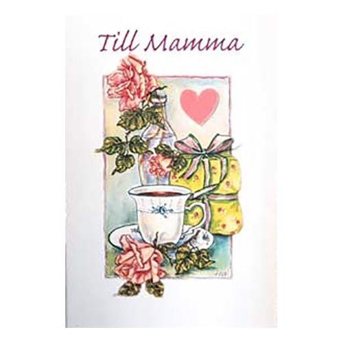 Dubbelkort Mini Till Mamma Rosa Ros