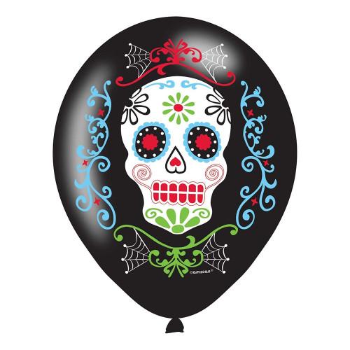 Ballonger Svarta Day of the Dead - 6-pack