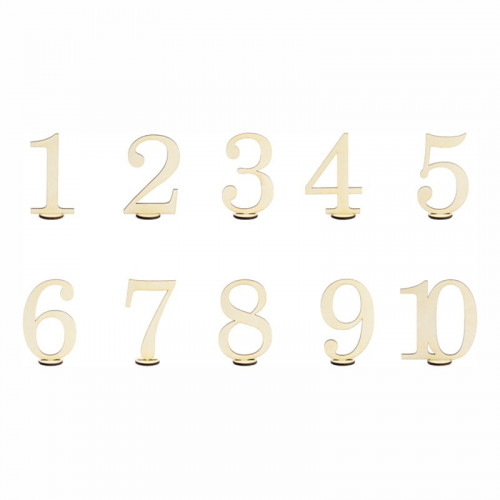 Bordsnumrering Träsiffror - 10-pack