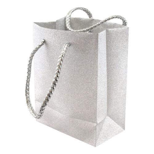 Presentpåse Glitter Silver