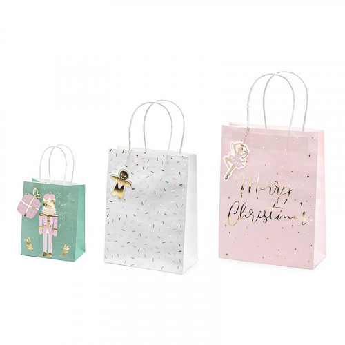 Presentpåsar Merry Christmas Mix - 3-pack