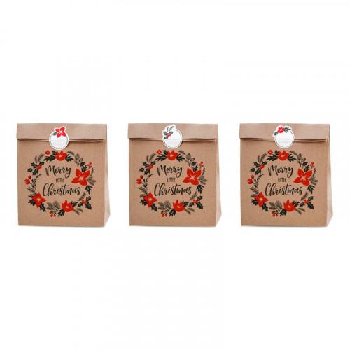 Presentpåsar Merry Little Christmas - 3-pack