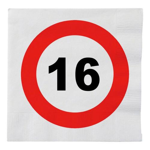 Pappersservetter Trafikskylt 16 - 16-pack
