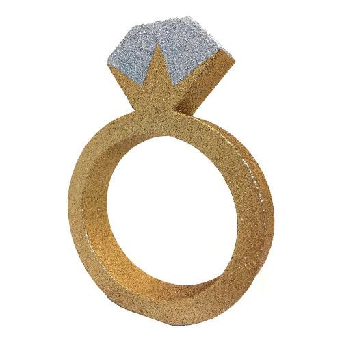 Bordsdekoration Förlovningsring Guld Glitter