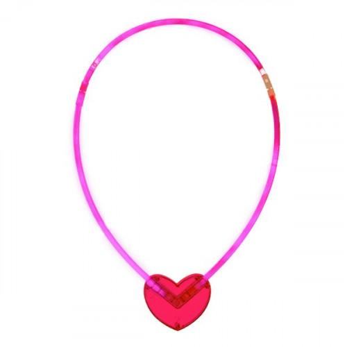 Självlysande Halsband Hjärta - 25 cm