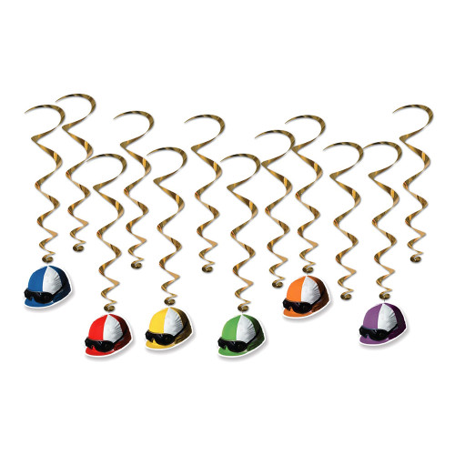 Swirls Galopphjälmar Hängande Dekoration - 12-pack