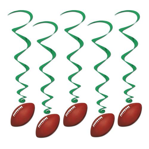 Swirls Amerikansk Fotboll Hängande Dekoration - 5-pack