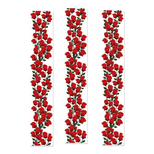 Paneler Röda Rosor Hängande Dekoration