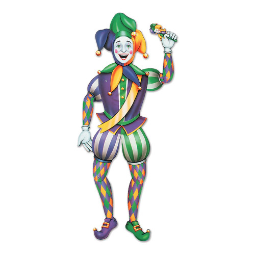 Kartongfigur Mardi Gras