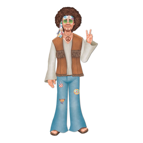Kartongfigur Manlig Hippie