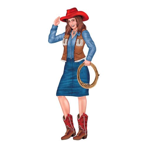Kartongfigur Cowgirl
