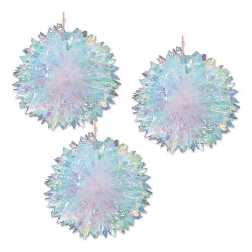 Hängande Kristallbollar Holografiska - 3-pack