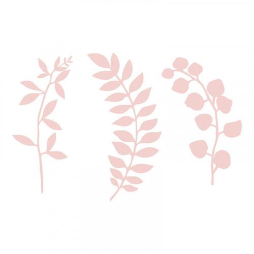 Bordsdekorationer Löv Rosa - 9-pack