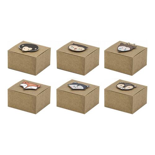Pappersboxar Woodland - 6-pack