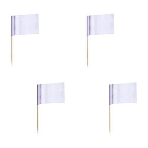 Cocktailflaggor Vit - 500-pack