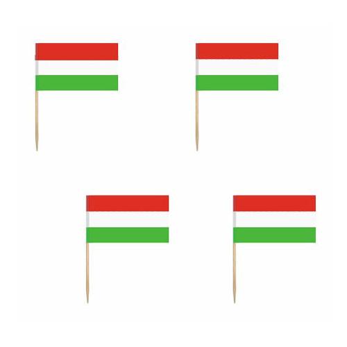 Cocktailflaggor Ungern - 200-pack