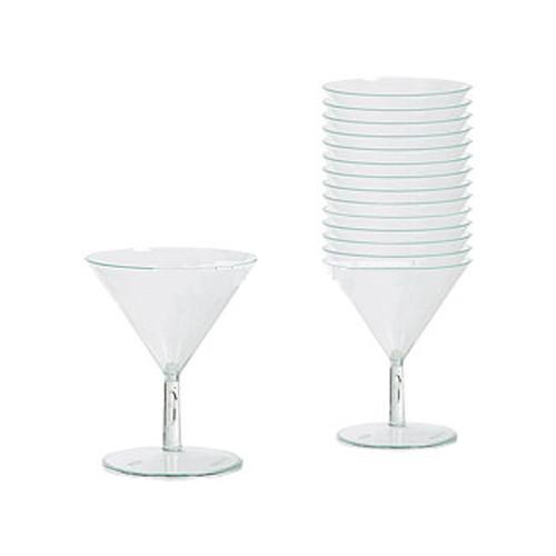 Martiniglas Mini i Plast - 20-pack