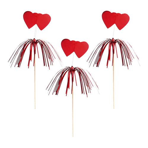 Partypinne med Hjärtan - 100-pack