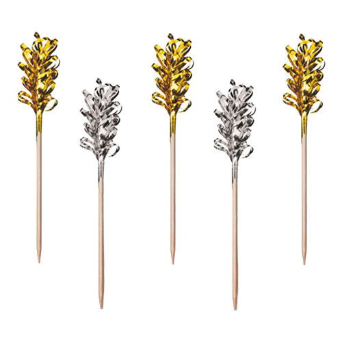 Partypinne Guld/Silver - 30-pack