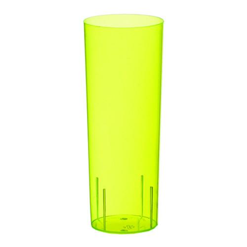 Longdrinkglas Gul i Plast - 10-pack