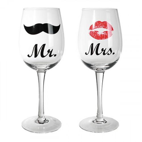Vinglas Mr & Mrs - 2-pack