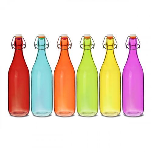 Glasflaskor Färgglada - 6-pack