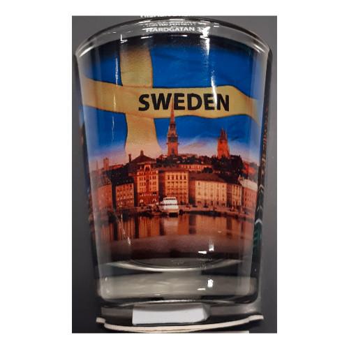 Souvenir Sweden Shotglas City
