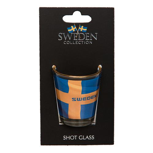 Souvenir Sweden Shotglas Flagga