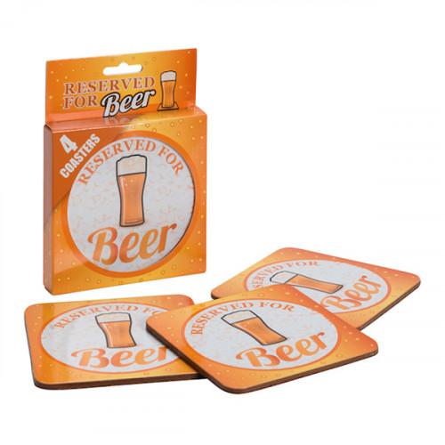 Reserved For Beer Glasunderlägg - 4-pack