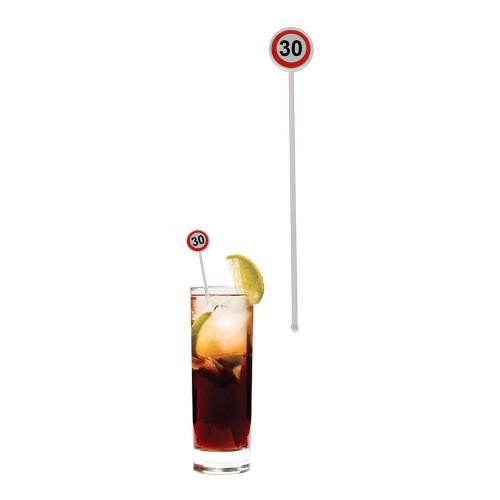 Drinkpinnar Trafikskylt 30 - 12-pack