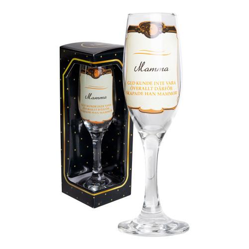 Champagneglas Mamma