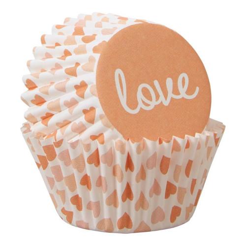Muffinsformar Mini Love Hjärtan - 100-pack