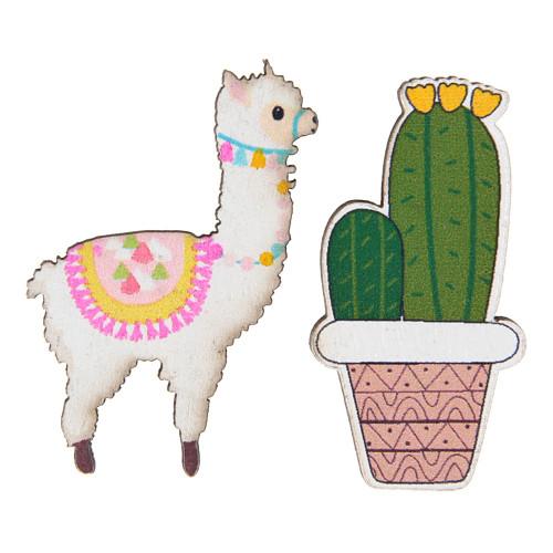 Konfetti Lamor & Kaktusar - 18-pack
