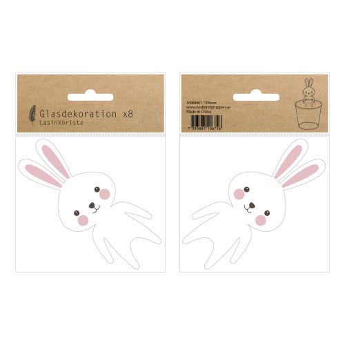Placeringskort för Glas Kanin - 8-pack