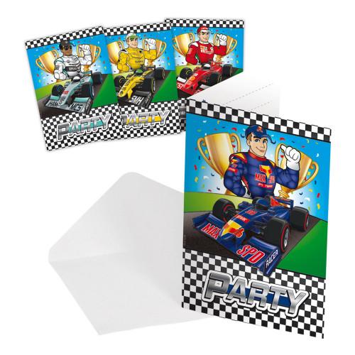 Inbjudningskort Formula - 8-pack