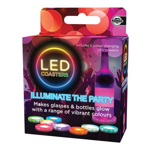 Drinkunderlägg LED - 5-pack