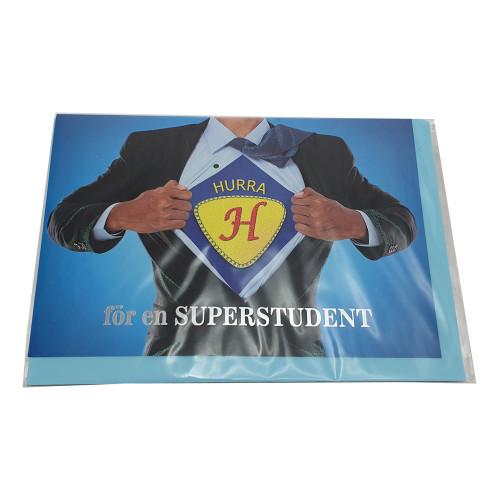 Kort Superstudent - 12,5 x 18 cm