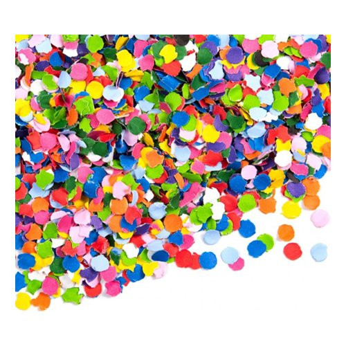 Papperskonfetti Flerfärgad