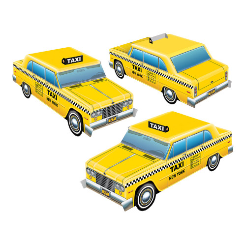 Bordsdekorationer Taxibilar - 3-pack