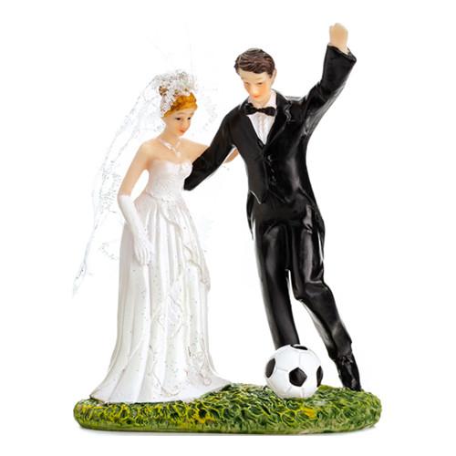 Bröllopsfigur Fotbollsbröllop - 1-pack