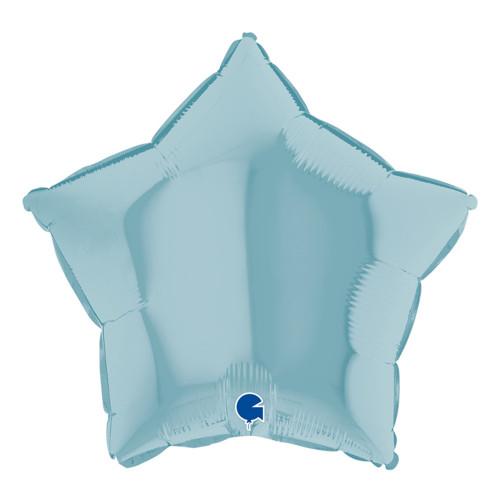 Folieballong Stjärna Pastellblå - 1-pack