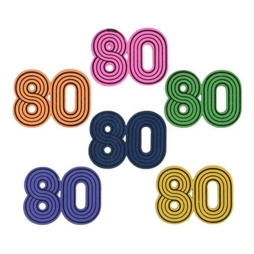 Konfetti 80-tal Flerfärgad - 10-pack