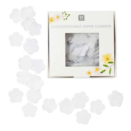 Papperskonfetti Blommor Vit