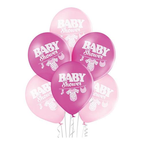 Ballonger Baby Shower Girl - 6-pack