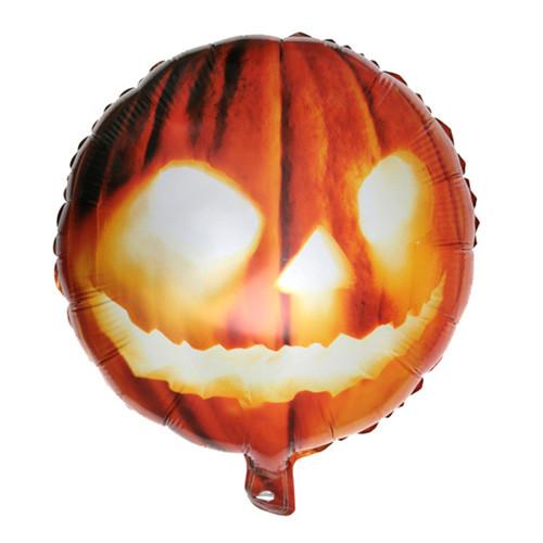 Folieballong Halloweenpumpa Orange