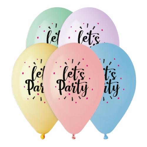 Latexballonger Premium Let's Party - 5-pack