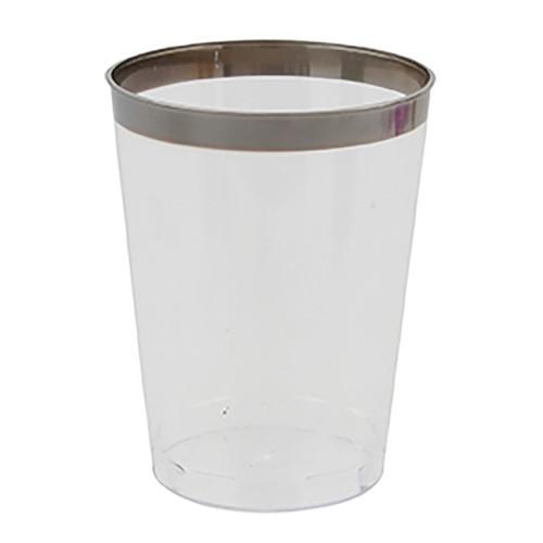 Plastmugg med Silverkant - 8-pack